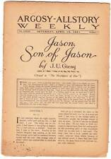 JASON, SON OF JASON by  J.U. Giesy complete 1921 pulp excerpts ARGOSY-ALL STORY