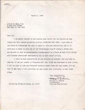 Va Prison Psychologist Author William Perdue 1969 Signed Letter to Criminologist