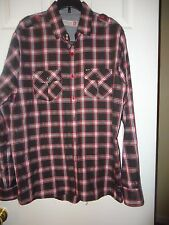 SOVERIGN CODE MEN'S BUTTON DOWN DRESS SHIRT Size Large Black & Red