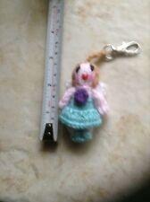Hand Knitted Fairy Key Ring/Handbag Charm