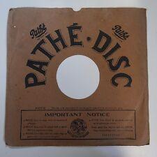 30cm PATHE gramophone record sleeve , square box corners