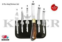 Professional Farrier HOOF KNIVES Set Kit VETERINARY Enquine Horse Kaizer