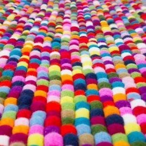 1000 Pom Pom woolen felt balls Bright Colors 2 cm Jewelry Making Beads Supplies