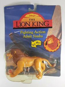 Vintage Mattel Disney's The Lion King  Fighting Action Adult Sima Figure 66389
