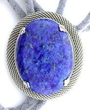 Natural Oval 40x30 Lapis Lazuli Cab Cabochon Gemstone Bolo Tie Cord Tips EPBT67N