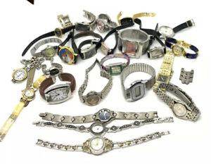 Large lot of Woman's Quartz Watches all for repair