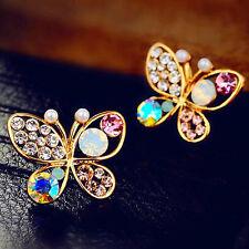 Schmetterling Ohrstecker Butterfly bunte Kristalle Frühling Ohrringe