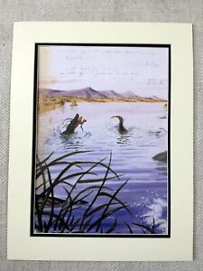 Walton Ford Print Crocodile Lake Landscape Naturalist Animals Illustrations