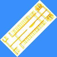 SANTA FE GP38-2 GP40-2 YELLOW HANDRAIL SET  ATHEARN HO Scale