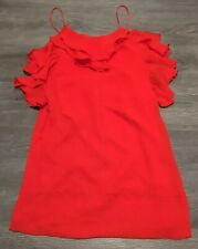 BNWT SISTER JANE Red Frill Slip Dress UK Size S/Approx UK 6-8