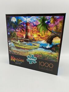 Buffalo Games 1000 Piece Puzzle Marine Color Hope Cove Jigsaw Puzzle Lighthouse