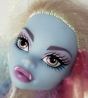MONSTER HIGH DOLL SKULL SHORES ABBEY BOMINABLE BLUE REPLACEMENT HEAD ONLY OOAK