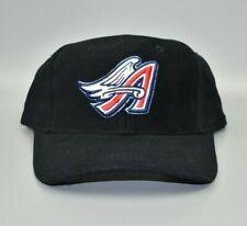 Anaheim Angels Logo Athletic Vintage 90's Wool Black Snapback Cap Hat - NWT