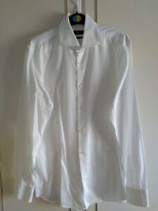 """Men's Hugo Boss Formal Shirt, Slim Fit, White, Medium, 39cm, 15.5"""" BRAND NEW"""