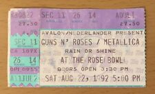 1992 GUNS N' ROSES METALLICA ROSE BOWL CONCERT TICKET STUB USE YOUR ILLUSION 14