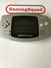 Gameboy Advance Platinum Games Console Boxed (Missing Battery Cover)
