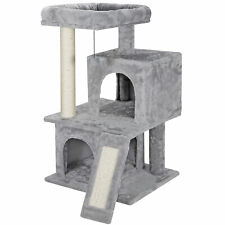 """34"""" Cat Tree Tower for Multiple Cats with Sisal Posts Scratching Board Pet House"""