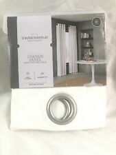 Threshold Light-Filtering Curtain Panel White Textured Solid 54in (W) x 84in (L)