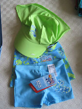 SPEEDO TOTS TRIO PACK d'impression ENDURANCE AQUASHORTS PLUS pic ombre CAP UK4years