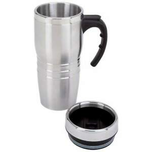 COFFEE TRAVEL MUG 16oz Stainless Steel Double Wall Liner Tumbler Travel Drink