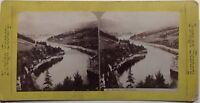 Lac Rocky Lake Italia Foto Stereo Vintage Albumina