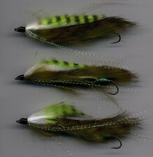 Trout Flies Snake Flies Green Assassin MK 2  x 3 all tied in the UK size 8