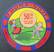 Etiquette fromage FROMA ROZE Grosjean Lorraine french cheese label 16