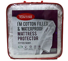 Tontine I'm Cotton Filled & Waterproof Mattress Protector Double Bed RRP $89.95