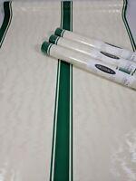 Gramercy Wallpaper Cream Green Vertical Stripe Wavy Sheen Pattern 3 Roll Lot