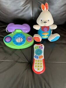 Baby Toy Bundle Musical Phone/bunny 3 Months Plus