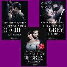 E L James - Fifty Shades of Grey Band 1+2+3 im Set - Filmausgaben Portofrei DHL