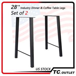 Black 28'' Industry Dinner &Coffee Table Legs Metal Steel Bench Furniture Decor