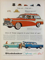Vintage 1956 Studebaker Wagons One Is Your Kind Of Car Print Ad Advertisement