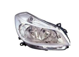 Fits Renault Clio Headlight Lamp Off Side Right Chrome 4 Bulb 2006-> 2009 RHD