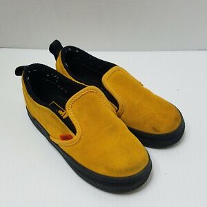 Vans Slip Ons Toddler Shoes Sz 9 Mustard Yellow Gold Suede