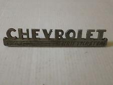 Vintage Chevrolet Shiftmaster Metal Emblem Ornament nameplate Script trim