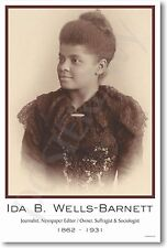 Ida B Wells-Barnett - NEW Famous African American Civil Rights Leader POSTER