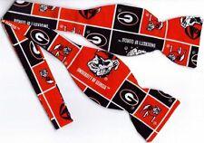 Georgia Bow tie (Blocks) Georgia Bulldogs / UGA Dawgs / Self-tie Bow tie