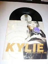 """Kylie -? qué tengo que hacer - 1990 Reino Unido 2-track 12"""" SINGLE VINILO (manga dañado)"""