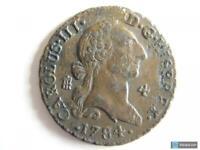 Moneda 4 Maravedís Carlos III 1784 - Segovia, excelente pieza