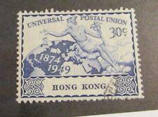 HONG KONG Scott 182 Θ used 30 cent, Universal Postal Union just fine + 102 card