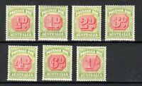 Australia 1938 Postage Due set to 1s MH