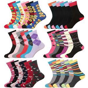 Womens Ladies Socks Cotton Rich Ankle Novelty Sports Girls Socks 3 6 Pairs UK4-8