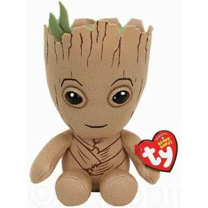 OFFICIAL BRAND NEW TY MARVEL CUTE GROOT BEANIE PLUSH SOFT TOY -  COLLECTIBLE