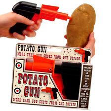 Potato Spud Gun Toy Classic Retro Pistol Shooter Joke for kids and children