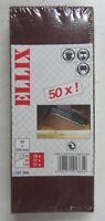 50 FOGLI FOGLIO CARTA ABRASIVA 93X230 MM ELLIX X LEGNO GRANA 40 80 120 NUOVO