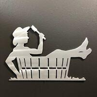 Cowboy Bath Metal Wall Decoration w West 1 Skilwerx 14 x 9 Western