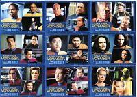 Star Trek Voyager Heroes & Villains Base Card Set 99 Cards