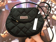 Marc Jacobs Quilted Nylon Messenger Crossbody Bag Med Black M0011324001