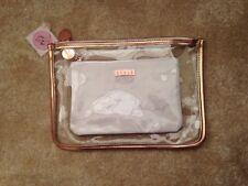 Effetto marmo & traslucido make up/archiviazione/Toeletta Borsa con finiture in oro rosa